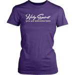 """Holy Spirit, You Are Welcome Here"" Women's T-Shirt"