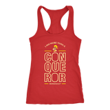 """I Am More Than A Conqueror"" Women's Racerback Tank"