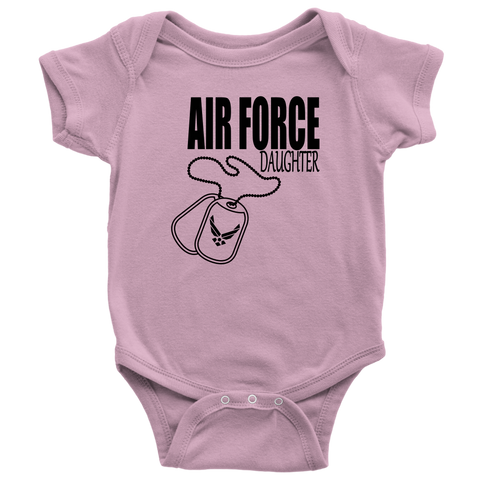 """Air Force Daughter"" (Baby Bodysuit)"