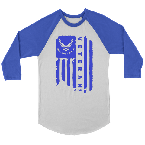 Air Force Veteran 3/4 Unisex Raglan Shirt