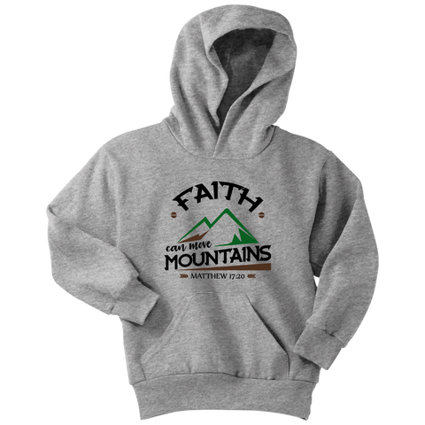 Faith Can Move Mountains Youth Hoodie