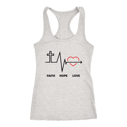 Faith, Hope,  and Love Women's Racerback