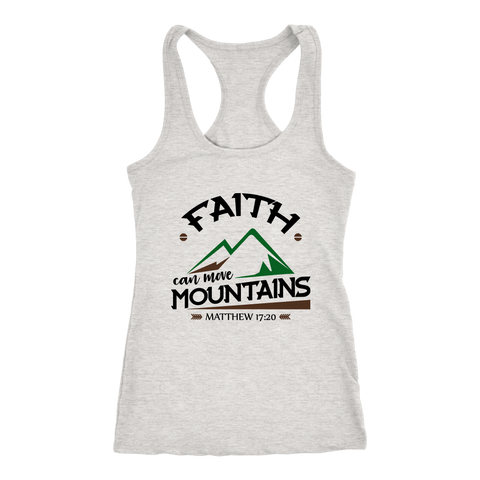 Faith Can Move Mountains Women's Racerback Tank