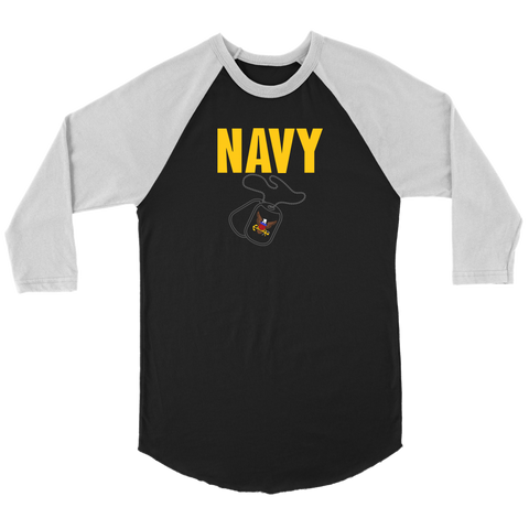 US NAVY 3/4 Raglan Shirt