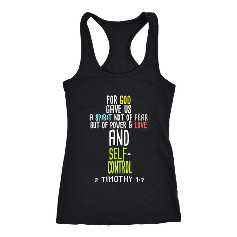 """For God Did Not Give Us..."" Women's Racerback Tank"