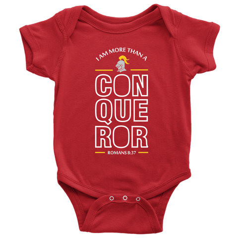 I Am More Than A Conqueror Baby Bodysuit