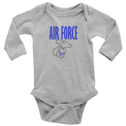 Air Force Long Sleeve Baby Bodysuit