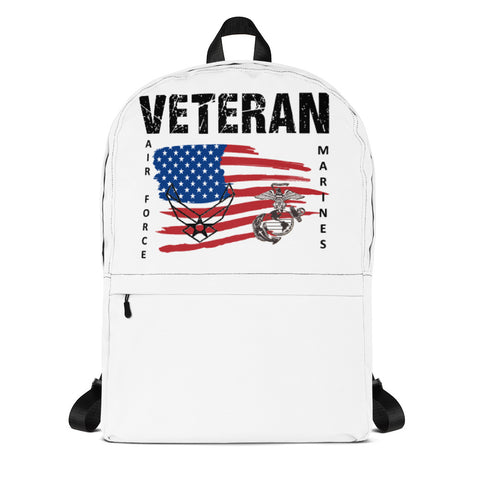 """VETERAN MARINE-AIR FORCE""  Backpack"