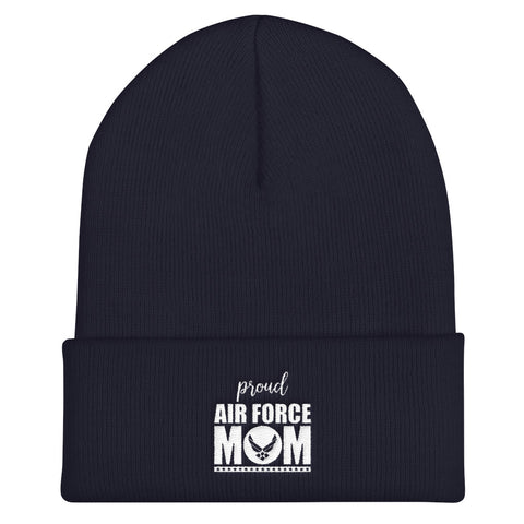 Proud Air Force Mom Cuffed Beanie