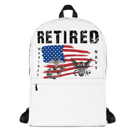 """RETIRED MARINES-NAVY"" Backpack"