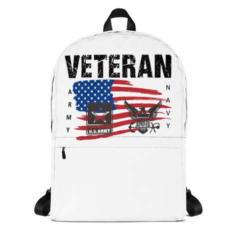 """VETERAN NAVY-ARMY"" Backpack"