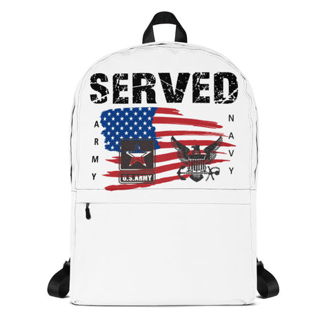 """SERVED NAVY-ARMY"" Backpack"