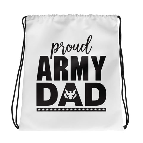 Proud Army Dad Drawstring bag