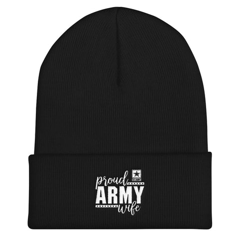 Proud Army Wife Cuffed Beanie