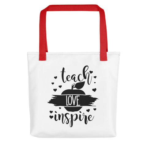 """Teach, Love, Inspire"" Tote bag"