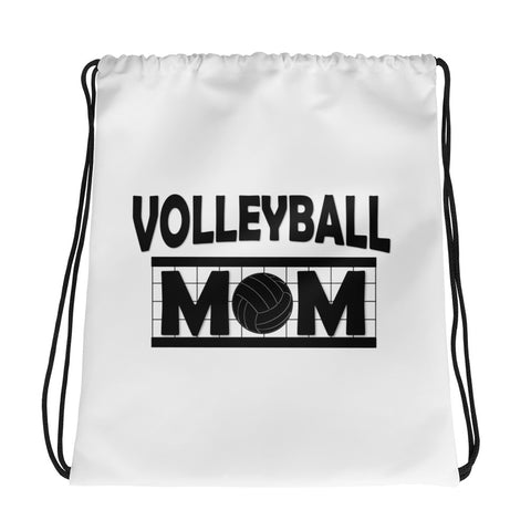 Volleyball Mom Drawstring bag
