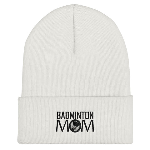 Badminton Mom Cuffed Beanie