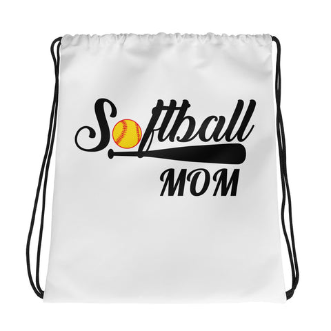 Softball Mom Drawstring bag