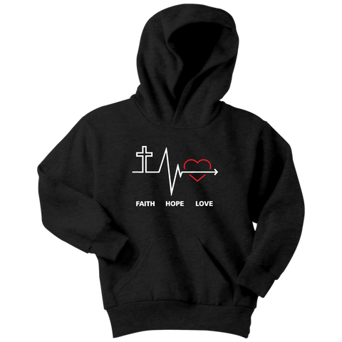 Faith, Hope and Love ... Youth Hoodie