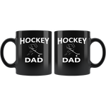 """Hockey Dad"" (Black 11oz Mug)"