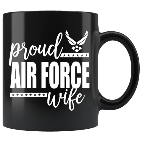 Air Force Wife 11 oz Black Mug