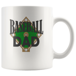 """Baseball Dad"" (White 11oz Mug)"