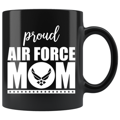 Air Force Mom 11 oz Black Mug