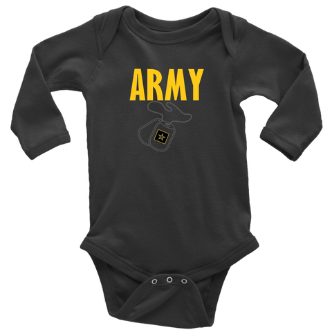 U. S. Army Long Sleeve Baby Bodysuit