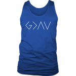 God is Greater In The... Men's Tank Top