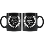 As for me and my house... 11 oz Black Mug