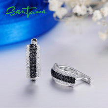 Load image into Gallery viewer, Black Stones 925 Sterling Silver Stud Earrings For Women