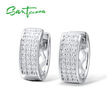 Load image into Gallery viewer, Silver Earrings For Women 925 Sterling Silver White Cubic Zirconia