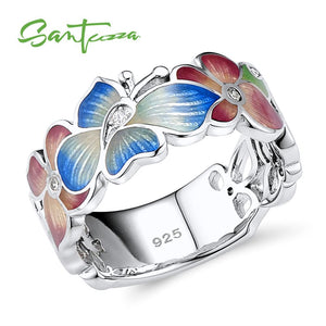 Silver Ring For Women 925 Sterling Silver Fashion Flower Ring Cubic Zirconia
