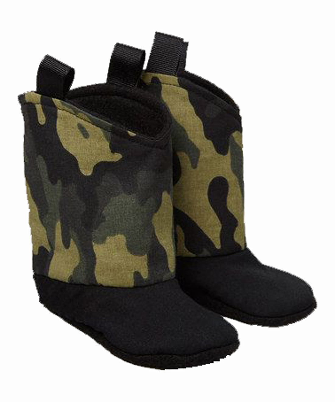 Camo Green baby bootie for that little hunter in your life
