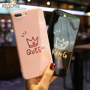 fed422b2ee KISSCASE Phone Case For iPhone 6 6S Cases Couple King Queen Plain Soft TPU Phone  Cover