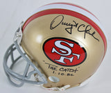 San Francisco 49ers Legend Dwight Clark Autograph Mini Helmet
