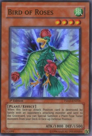 Bird of Roses - TSHD-EN018 - Super Rare 1st Edition