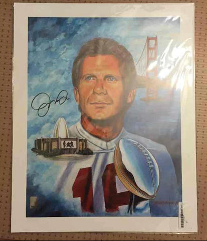 San Francisco 49ers legend Joe Montana Signed 16 x 20 lithograph