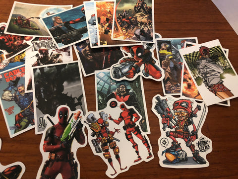 Lot of 38 pieces of Deadpool Stickers