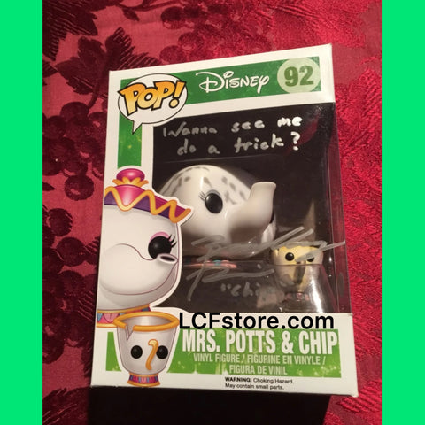 Vaulted Mrs Potts and Chip Autograph Funko POP