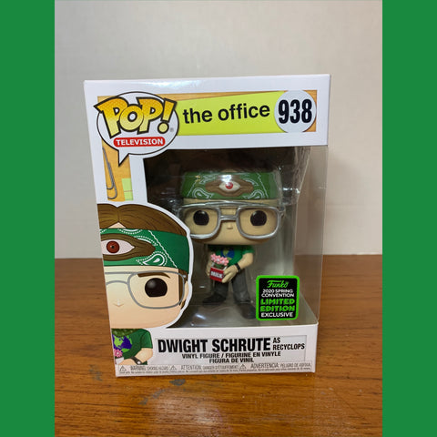 The Office Dwight Schrute Recyclops 2019 ECCC Funko POP!