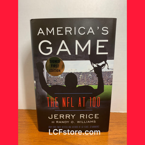 Jerry Rice Signed First Edition America's Game Book
