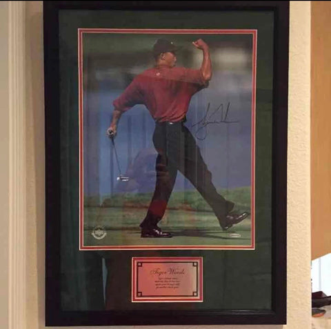 Tiger Wood autograph 16x20 Framed Photo