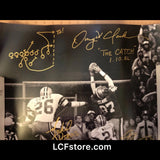 San Francisco 49ers legend late Dwight Clark,Everton Walls, and Michael Downs Autograph 16x20 photo