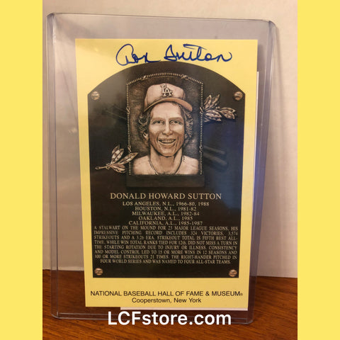 Don Sutton autograph 4x6 Hall Of Fame Post Card