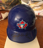 Roy Halladay autograph Mini Toronto Blue Jay helmet