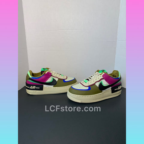 Nike Air Force 1 Shadow Cactus Flower/Olive Flake | Fur