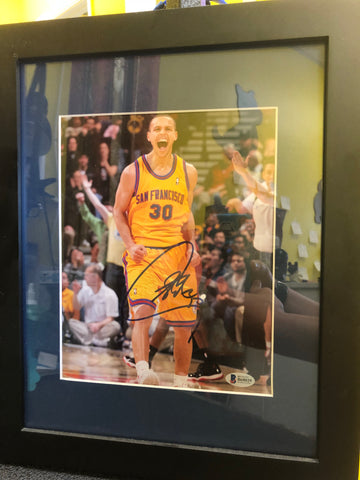 Golden State Warriors Stephen Curry autograph photo