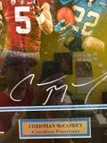 Stanford and Carolina Panthers Christian McCaffey autograph photo