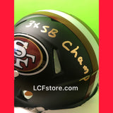 SF 49ers Legend Roger Craig Signed Flat Black Mini Helmet